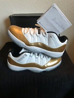 pretty nice 94529 90031 Nike Air Jordan 11 XI Retro Low Closing Ceremony White Gold 528895-103 Size  12