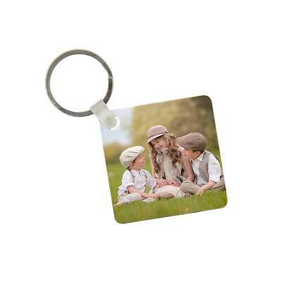 Personalised Two Photo Key Ring Double Sided Any Image £3.99 Free Fast Postage