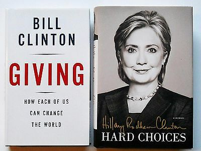 BILL CLINTON & HILLARY CLINTON Signed First Editions autograph books w/proof