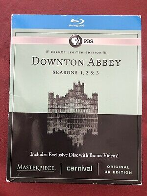 Masterpiece: Downton Abbey Seasons 1, 2 & 3 Deluxe Edition 9-Disc Blu-ray Set