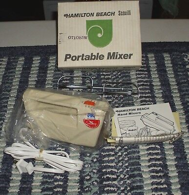 Hamilton Beach Scovill Portable Hand Mixer Model 97AL x's (2) Both Boxed 2 for 1