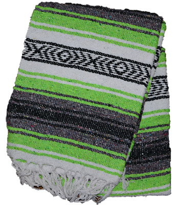 MEXICAN Falsa Blanket Yoga Mat NEW Size 75 * 55 inch Color Light green