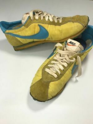0f0d1457d4 NIKE Vintage Sneakers Yellow × Blue Waffle Bottoms Sports Shoes size US 10  Y107
