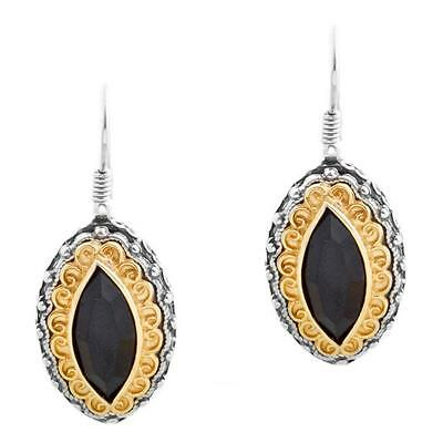 S221 ~ Sterling Silver & Swarovski Medieval Drop Earrings