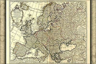 Poster, Many Sizes; Carte D'Europe Map Of Europe 1769, England France Germany