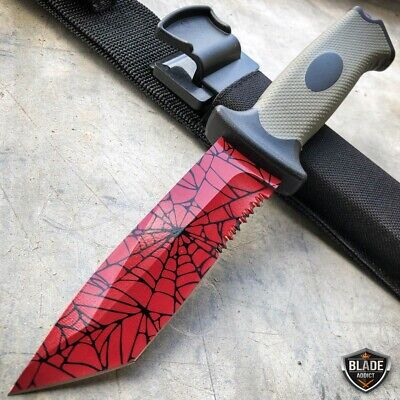 "9.5"" Tactical CSGO Ursus Fixed Blade Counter Strike Hunting Knife Crimson Web"