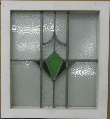 "OLD ENGLISH LEADED STAINED GLASS WINDOW Gorgeous Geometric Burst 17"" x 18.5"""