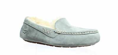 4399f1bf225 UGG WOMENS ANSLEY Light Grey Moccasin Slippers Size 8 (229246)