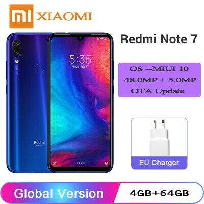 "Globale Version Xiaomi Redmi Note 7 6,3"" 48MP Dual Kamera 4GB RAM+64GB ROM Handy"