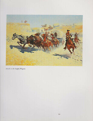 """Frederic Remington Print""""Attack of the Supply Wagon""""Native American Western Art"""
