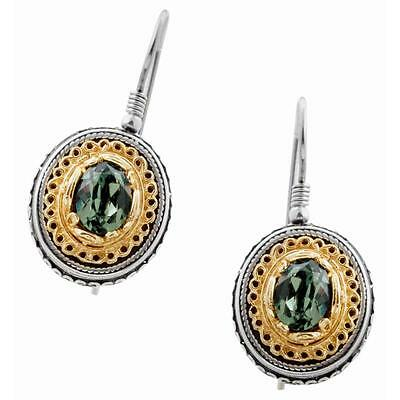 S220 ~ Sterling Silver & Swarovski Medieval Drop Earrings