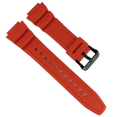 Ae-1000w Ae-1100w Pulsera Rojo Casio Collection Correa de Repuesto Resina Band