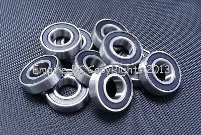 (2 PCS) S6002-2RS (15x32x9 mm) 440c Stainless Steel Rubber Sealed Ball Bearings
