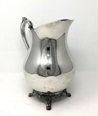 Vintage F. B. Rogers Silver Plate Footed Water Pitcher with Ice Catch