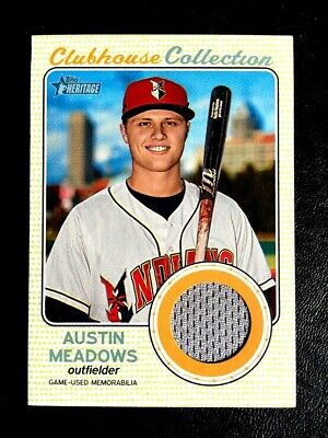 online store d9412 695fd 2017 TOPPS HERITAGE Jersey Non Auto Austin Meadows RC RAYS
