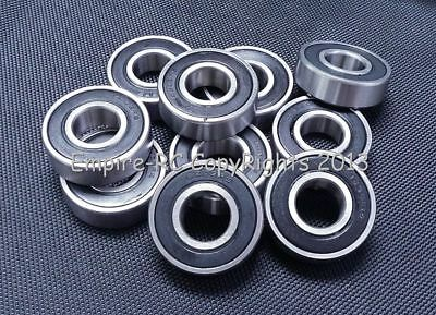(10PC) 6202-2RS ID:16mm (16x35x11 mm) Metal Rubber Sealed Ball Bearings 16 35 11