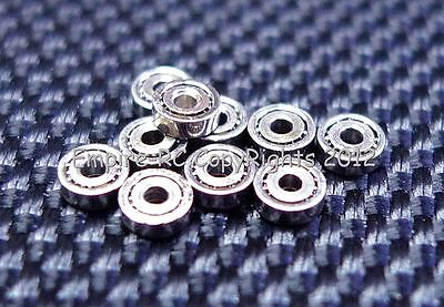 (30 PCS) 681 (1x3x1 mm) Metal OPEN PRECISION Miniature Ball Bearings (1 3 1)