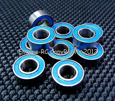 (10 PCS) MR84-2RS (4x8x3 mm) Rubber Sealed PRECISION Ball Bearing (BLUE) 4 8 3