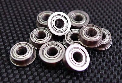 (10 PCS) MF63ZZ (3x6x2.5 mm) Metal Shielded FLANGED PRECISION Ball Bearing Set