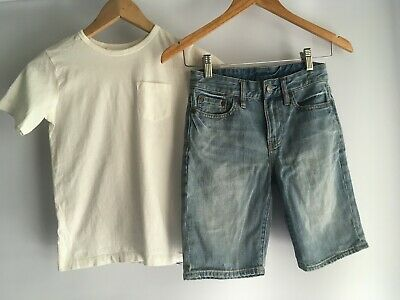 Boys size 8 Ralph Lauren and Country Road denim short and t-shirt