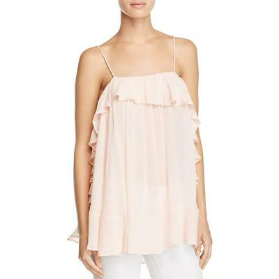 12786db4c8934 Intimately Free People Womens Pink Ruffled Colored Blouse Top L BHFO 9439