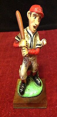 RARE Vintage ENESCO Mighty Casey Mudville Babe Ruth #3 Baseball Figure Red Sox