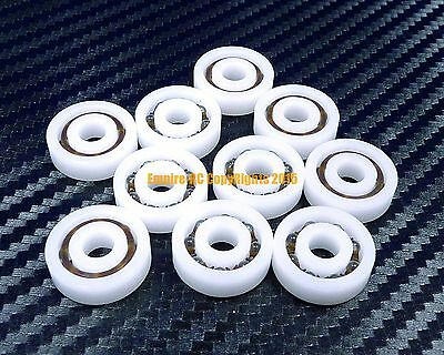 [QTY 5] 624 (4x13x5 mm) POM Nylon Plastic PRECISION Ball Bearing Bearings 4 13 5