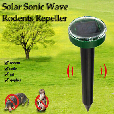 1PC Solar Ultrasonic Snake Mouse Repellers Pest Rodent Repeller Reject Outdoor