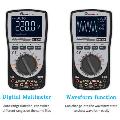 Upgraded MUSTOOL MT8206 Intelligent Digital Oscilloscope Multimeter Tester AC/DC