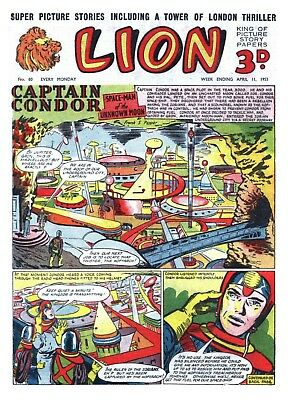Uk Comics Lion Digital Collection Of Boys' Adventure Comics On Dvd