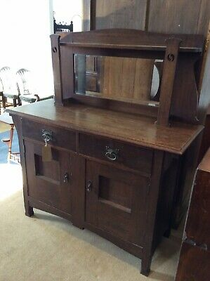 Oak Liberty Style Sideboard With Mirror Back