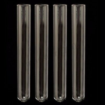 40pcs 20x150mm Borosilicate Glass Blowing Tubes Lab Medical Test Tubing  !