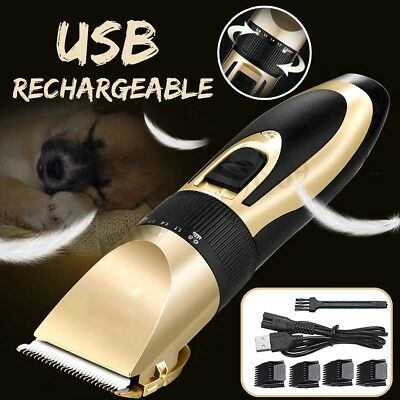 Rechargeable Cat Dog Hair Trimmer Electrical Pet Clipper Cutter Grooming