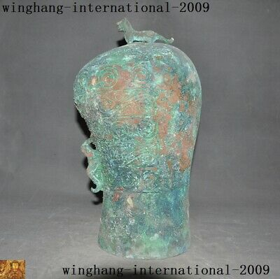 "14"" Shang Zhou dynasty bronze Ware Warring States Period Musical instrument bell"