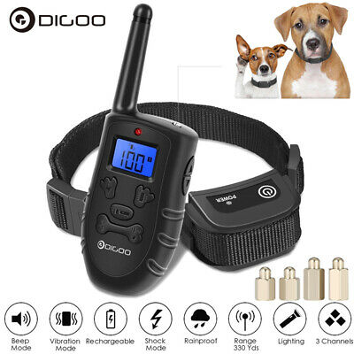 Digoo Waterproof LCD Electric Remote Dog Shock Bark Collar Trainer Training