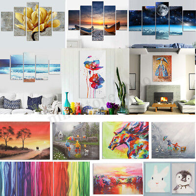 Landscape Nordic Style Stretched Canvas Print Wall Art Unframed Painting Picture