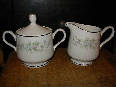 Carlton Fine China Corsage Pattern 481 Sugar Dish Creamer Set