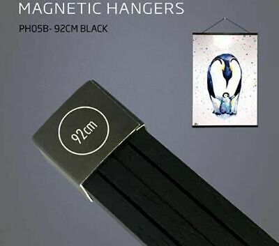 Poster Hanger Set Magnetic Timber Black 92cm