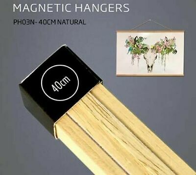 Poster Hanger Set Magnetic Timber Natural 40cm
