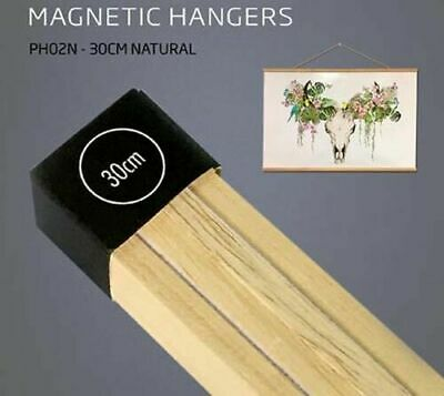 Poster Hanger Set Magnetic Timber Natural 30cm