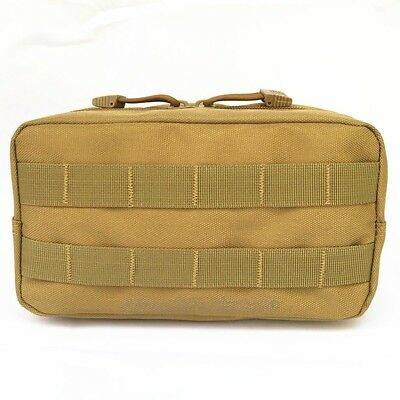 Hunting Molle Tactical EDC Utility Pouch Magazine Dump Drop Pouch Tools Bag Tan