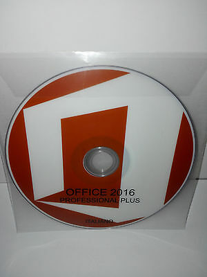 LOTTO STOCK 100 x DVD - OFFICE 2016 PROFESSIONAL PLUS - 32/64 BIT FULL - ITALIAN