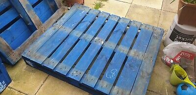 Reclaimed Heavy Duty Blue Wooden Euro Pallets Timber Pallet