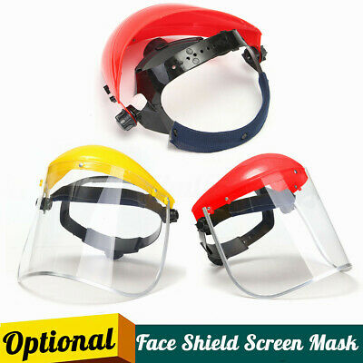 Face Mask Clear Visor Safety PPE Workwear Eye Protection Flip Up Grinding