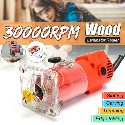 "220V Electric Hand Trimmer Wood Laminator 1/4"" 6MM Paml Router Laminate Trimmer"