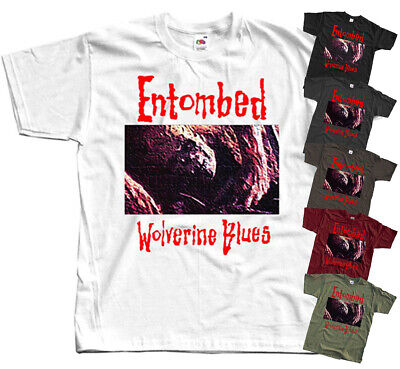 Entombed - Wolverine Blues death metal music band T-Shirt (BLACK) All size S-5XL