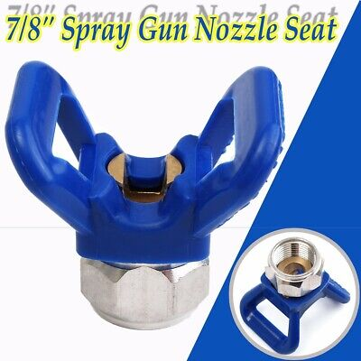 7/8 Inch Airless Paint Spray Gun Accessory Tip Guard Nozzle Seat Flat Plastic