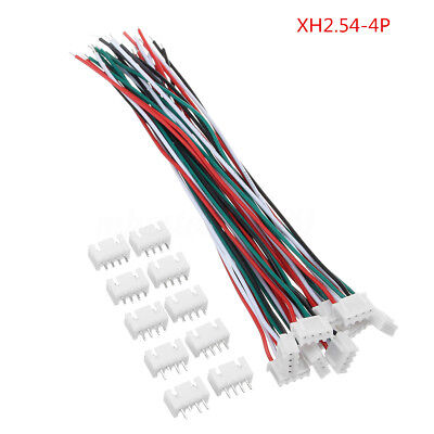 60Pcs Wire JST-XH Connector 1S2S3S4S5S6S 10CM Balance Charger Silicone 22# Cable