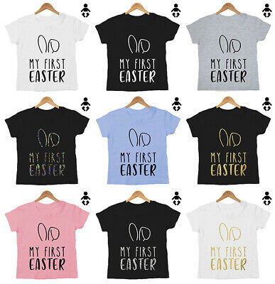 MY FIRST EASTER, bunny ears, 1st, milestone, gift Funny, Baby / Childs, T-Shirt