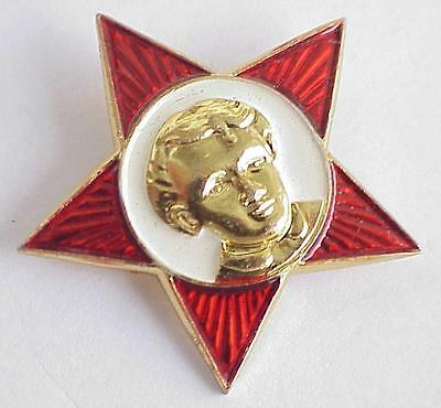 Russian Soviet Military Red Star Award Medal Order Communist Insignia Badge Pin